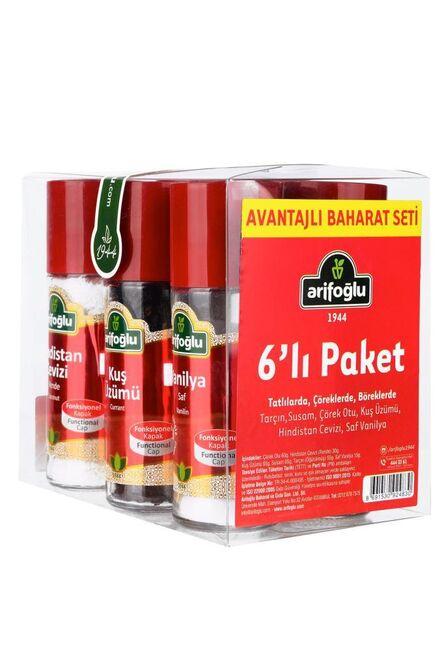 Baharat Set Cam 6LI (Tatlılarda, Böreklerde)
