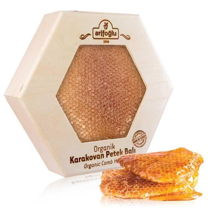Organik Karakovan Petek Balı 1000g Tahta Kutu