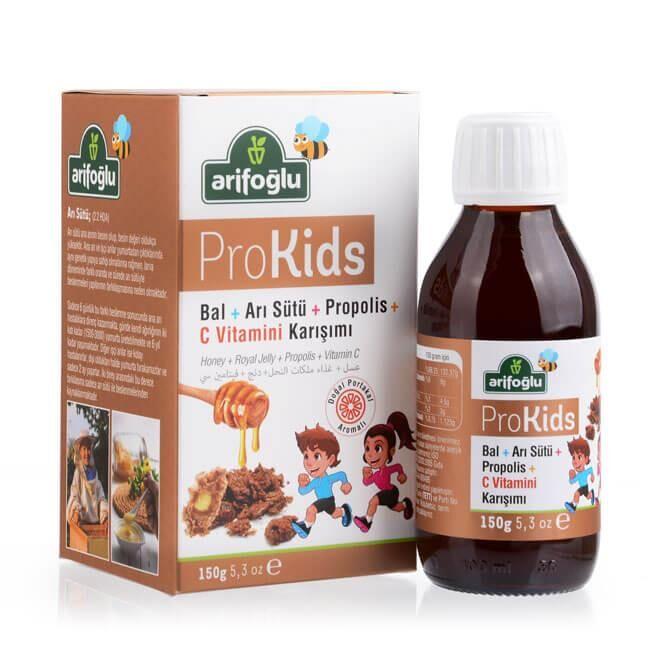 ProKids Bal Arı Sütü Propolis Portakal Tadında C Vitaminli 150g