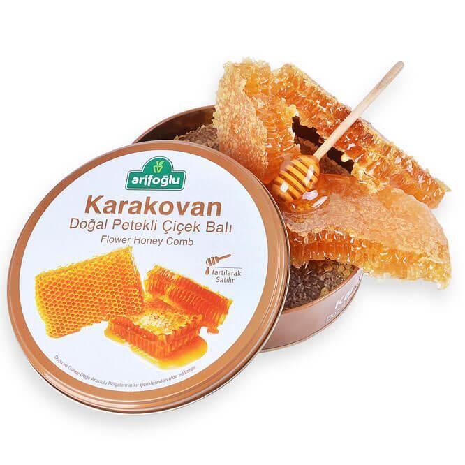 Karakovan Doğal Petekli Çiçek Balı Teneke Kutu 1500g