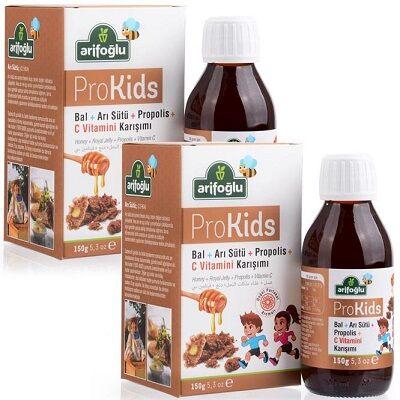 ProKids Bal Arı Sütü Propolis Portakal Tadında C Vitaminli 150g (2 Adet)